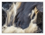 Black water at the Rogie Falls